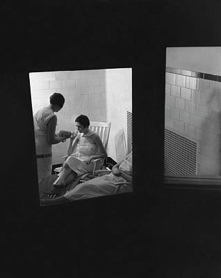 Photograph - Women Relaxing In A Hot Room by Lusha Nelson