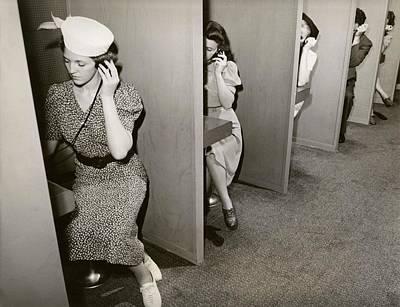 Women Taking Hearing Tests Art Print