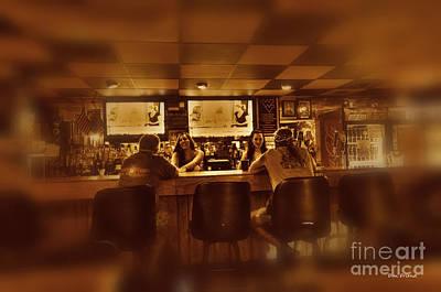 Photograph - Women Talking To Men In Bar by Dan Friend