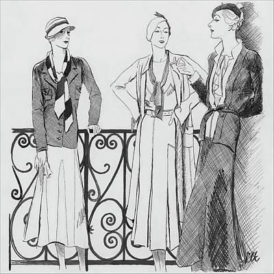 Fashion Digital Art - Women Wearing Molyneux by Creelman