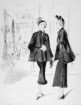 Women Wearing Molyneux Suits Art Print