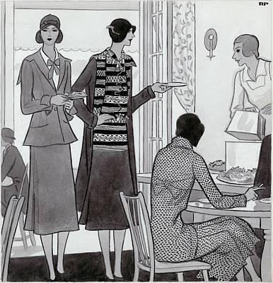 Tableware Digital Art - Women Wearing Semi-sport Ensembles By Chanel by Robert Patterson