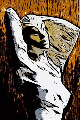 Drawing - Women Wheat by Selke Boris