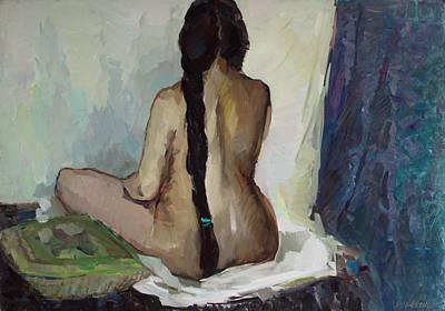 Painting - Women With Black Tresses by Juliya Zhukova