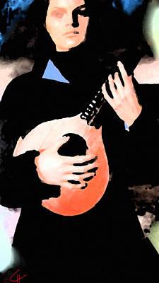 Women With Her Guitar Art Print