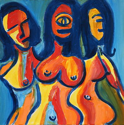 Lively But Commented Painting - Women2 by Sandra Conceicao