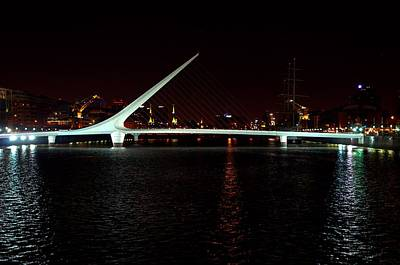 Photograph - Women's Bridge At Night Buenos Aires by Steven Richman