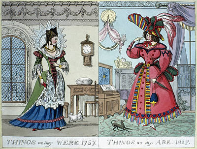 Painting - Women's Fashion, 1827 by Granger