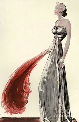 30s Drawing - Women�s Fashion 1930s 1939 1930s Uk by The Advertising Archives
