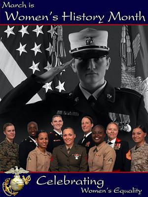 Us Flag Digital Art - Womens History Month by Annette Redman