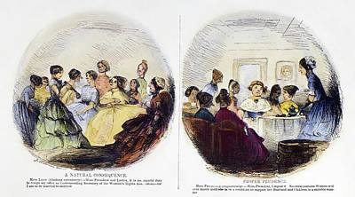 Suffrage Painting - Women's Rights, 1852 by Granger