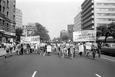 Warren Connecticut Photograph - Women's Rights March, 1970 by Granger