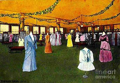 Painting - Women's Suit Section In Mabley And Carew Department Store In Cincinnati Oh 1910 by Dwight Goss