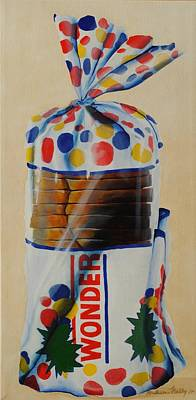 Sandwich Painting - Wonder Bread by Andrea Nally