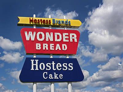 Wonder Bread Hostess Sign Art Print by Audra J Shields