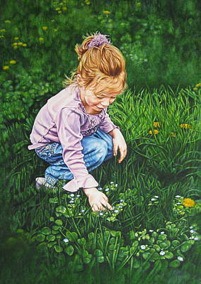 Painting - Wonder In A Wildflower by Tracy Male
