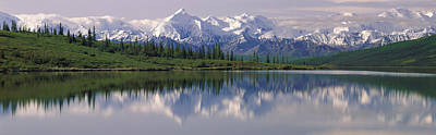 Ak Photograph - Wonder Lake Denali National Park Ak Usa by Panoramic Images