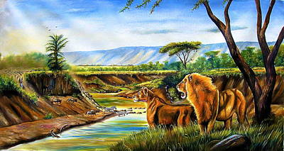 Painting - Wonder Of The Great Migration by Chagwi