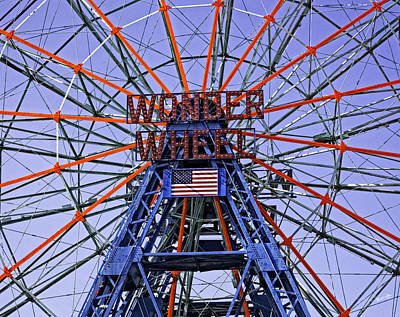Wonder Wheel 2013 - Coney Island - Brooklyn - New York Art Print by Madeline Ellis