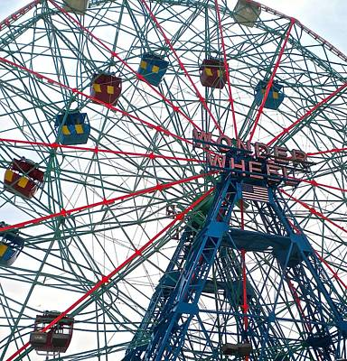Photograph - Wonder Wheel  by Joan Reese