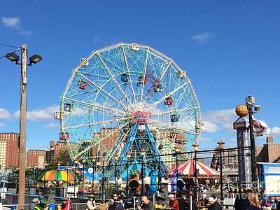 Cyclone Rollercoaster Photograph - Wonder Wheel by Parker O'Donnell