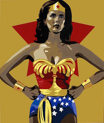 Justice Painting - Wonder Woman by Ian  King
