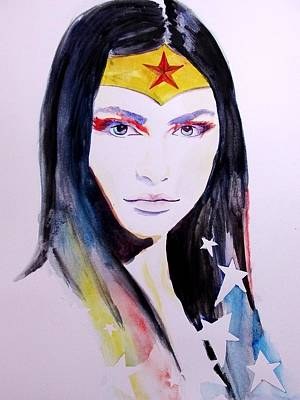 Justice Painting - Wonder Woman by Lauren Anne
