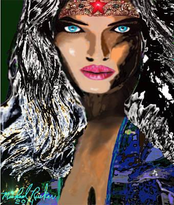 Greek Icon Digital Art - Wonder Woman by Michael Rucker