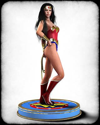 Digital Art - Wonder Woman V1 by Frederico Borges
