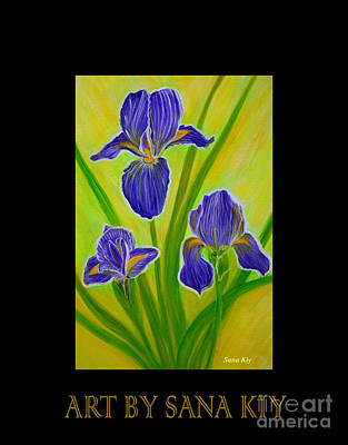 Painting - Wonderful Iris Flowers3.inspirations Collection.  by Oksana Semenchenko