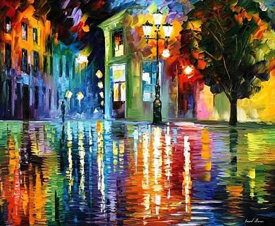 Wonderful Night - Palette Knife Oil Painting On Canvas By Leonid Afremov Original