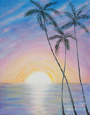 Painting - Wonderful Sunrise In Paradise by Oksana Semenchenko