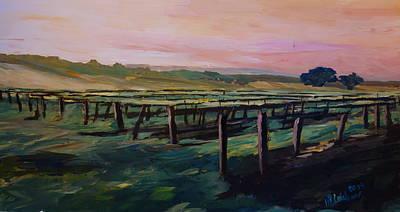 Napa Valley Vineyard Painting - Wonderful Vineyard  by M Bleichner