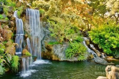 Digital Art - Wonderful Waterfalls by Peggy Hughes