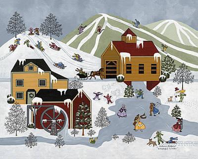 Wonderful Winter Art Print by Medana Gabbard
