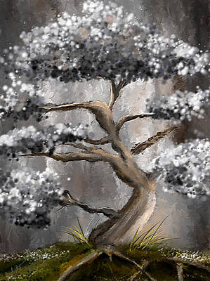 Light-brown Painting - Wonderfully Gray - Shades Of Gray Art by Lourry Legarde