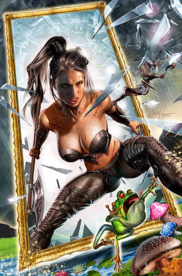 Wonderland 01b Calie Art Print by Zenescope Entertainment