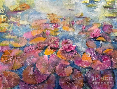 Painting - Wonderland Waterlilies by Carol Losinski Naylor