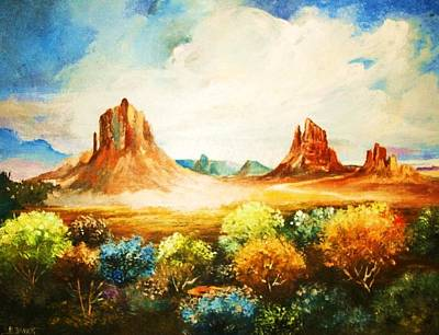 Painting - wonders of the Desert by Al Brown