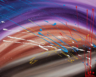 Fireworks Painting - Wonders Of The Universe by Laura Barbosa