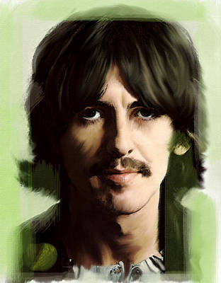 Wondersun George Harrison Art Print by Iconic Images Art Gallery David Pucciarelli