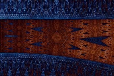 Wood And Blue Art Print by Mark Eggleston