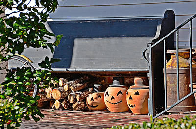 Photograph - Wood And Jack O'lanterns by Linda Brown
