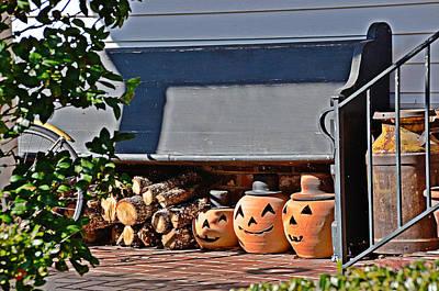 Photograph - Wood And Jack O'lanterns by Linda Brown
