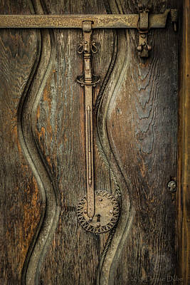 Photograph - Wood And Metal Mission Door by Denise Dube