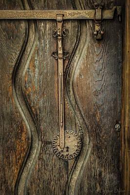 Wood And Metal Mission Door Art Print