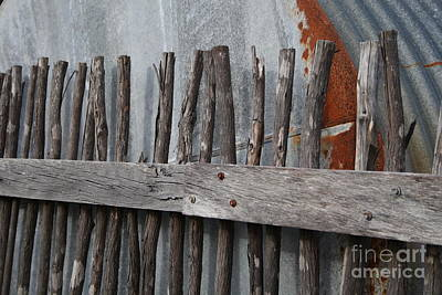 Wood And Rust Art Print by Kelly Jones