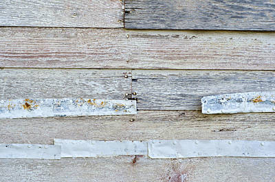 Photograph - Wood And Steel Wall by Lynn Hansen