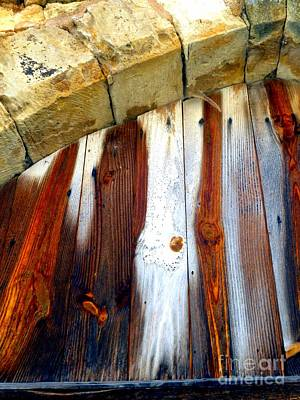 Wood And Stone Print by Lauren Leigh Hunter Fine Art Photography