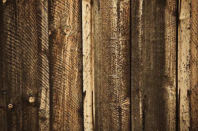Wood Background Art Print by Brandon Bourdages